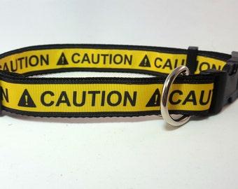 Dog Collar - Adjustable - CAUTION