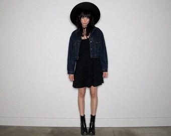 CK VINTAGE DENIM Jacket Cropped 90s Calvin Klein Womens Size M/L