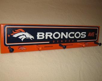 """Denver Bronco's coat rack """"hangup"""""""