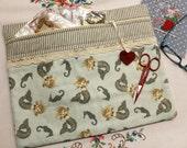 Drift Away Mermaids Cross Stitch, Embroidery Project Bag