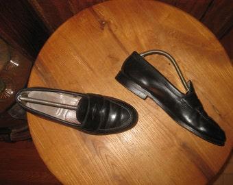 Alden   Vintage    981   Black Calfskin    Penny Loafers   Made In USA      Mens  9  C