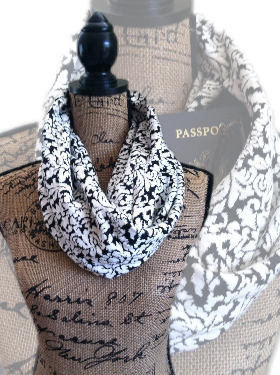 Zippered pocket scarf travel pocket scarf passport scarf for Travel scarf