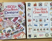 CROSS STITCH two books of patterns designs color