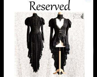 RESERVED part 2 of 2 Victorian cardigan, black lace, Somnia Romantica, approx size small, see item details for measurements