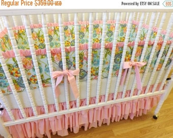 SALE--VALENTINES SALE---- Made To Order-- Shabby Chic Baby Girl Crib Bedding