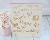 Shoot It Share It # It Social Media Event Sign Hashtag Wedding Sign Rustic Wedding Sign Social Wedding Sign Wedding Photo Hashtag Sign