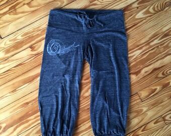 SALE Pants, Cropped Pants, Snail Pants, Size M