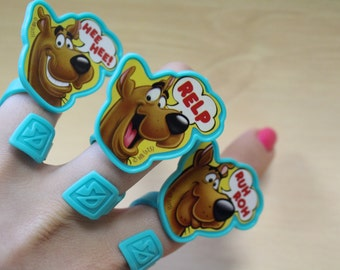 Scooby-Doo Rings/ Scooby Cupcake Toppers / Scooby Cake Toppers
