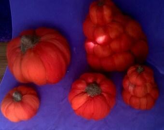 Wool Felted Pumpkins