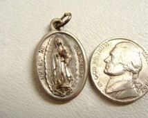 vintage Ntra Sa De Guadalupe and Santo Nino De Atocha Italian ITALY religious medal