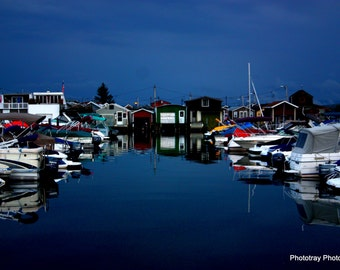 Stormy Canandaigua Lake Boat Houses Photograph