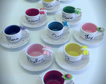 Garden Wonder Child's Personalized Tea cup and Saucer