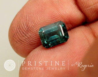 Blue Green Sapphire Emerald Cut Over 2 Carats Fine Gemstone Jewelry Ring or Engagement Ring September Birthstone Loose Gemstone