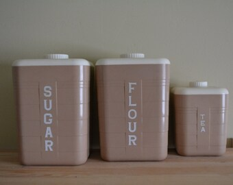 3PC Canister Set Republic Co. Chicago
