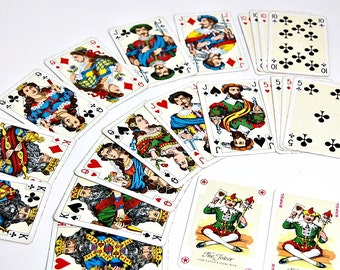 1975 Shakespeare Cards Piatnik Playing Cards 2 Full Decks With Jokers Rich Colorful Design Donald Burton Made In Austria Old Card Decks