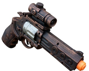 Steampunk gun cyber gothic toy  pistol  gun laser LIGHT Victorian cosplay prop theatre Zombie man COPPER tone Wholesale Price