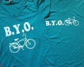 Bicycle TShirt - SALE Discontinued color Teal  - Women's