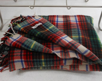 Wool Throw Tartan STRAWBRIDGE CLOTHIER Italy Made