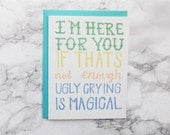Funny Sympathy Card. Get Well Card. Thinking of You. Condolences Card. Friendship Card. Sorry for Your Loss Card.