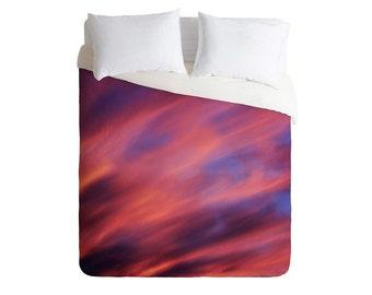 Duvet Cover. Bedding.  Bedroom Decor. Sunset Sky. Pink Purple Blue Orange. Dreamy. Dorm Decor. Clouds. Nature. College Decor. Home decor
