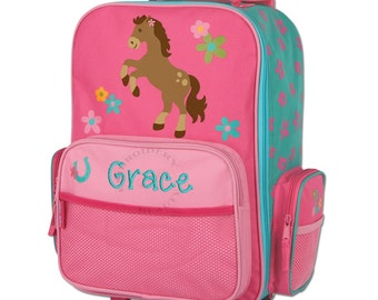 Girl Horse Rolling Luggage