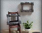 Dollhouse picture frame, 12th scale dollhouse miniature, shabby chic dollhouse decor, miniature frame