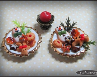 Miniature christmas cookies for your dollhouse