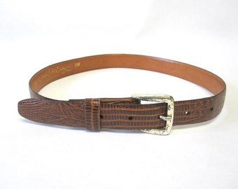 Skinny Brown Leather Belt Catherine Dial Easley Size Small