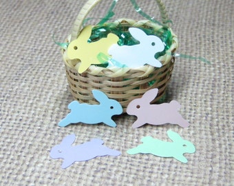 Miniature Easter bunny rabbit decorations flat plastic mini crafts 24pcs pastel spring embellishment playscale kawaii decoden dollhouse
