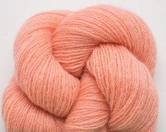Tea Rose Cashmere Heavy Lace Weight Recycled Yarn, Apricot Cashmere