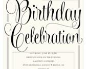 Custom Listing for Justine Barreiro - Alex's 50th Birthday Invite
