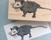 Cute Oposum Rubber Stamp