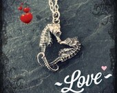 Little pygmy Seahorse Heart Charm, love, hippocampus, fish