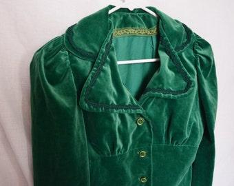 Emerald Velvet Suit Set