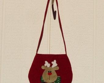 Over the Shoulder Toddler Reindeer Tote