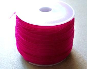 "Fushia Pink Organza Ribbon-1/8"""