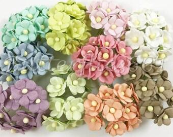 100 Mixed Pastel Wedding Roses