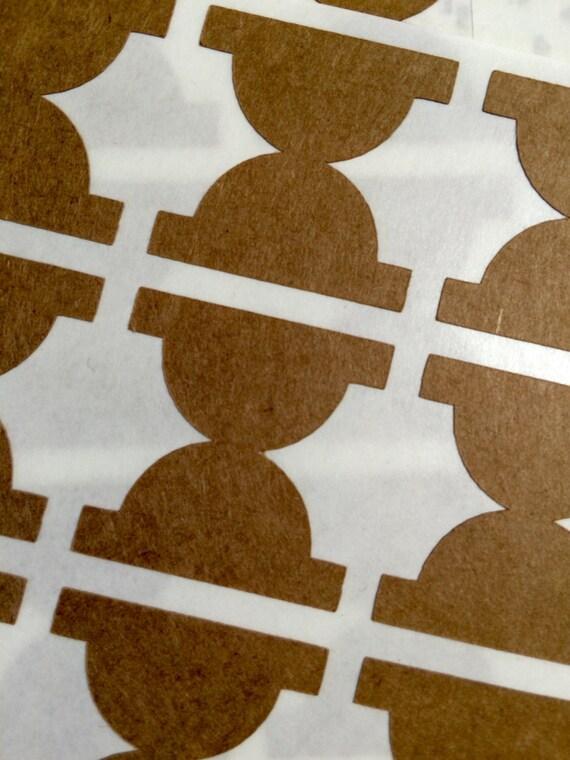 Semicircle Kraft Paper File Tab Label Stickers