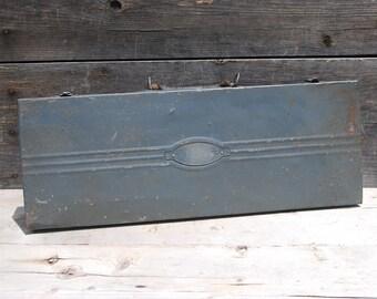Vintage Craftsman Tool Box, Socket Set Case, Craftsman Decor, Rustic Metal Tool Case
