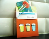 Gift Card Holder, Gift for Mailman, Coffee Lover Gift, Teacher Appreciation Gift, Gift Card Envelope
