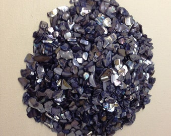 1 Pound Bulk Crushed Seashells for Crafting~Beautiful Vibrant Colors of Navy Blue~Wedding Decor~Crushed Shells for Fairy Garden Decorating