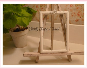 Vintage Cottage Chic White Picture Frame 4 x 6