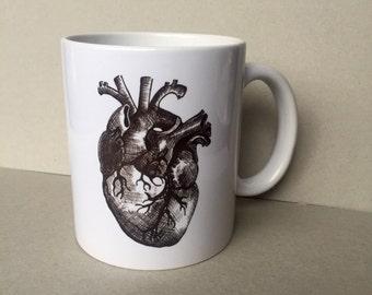 Anatomical Heart Mug based on Original Hand Drawn Art