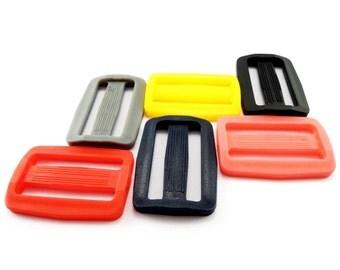 """38 mm / 1.5"""" - plastic DELRIN buckles slider 3 bar slider for webbing strap AOI"""