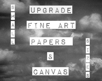 "UPGRADE: FiNE ArT PaPeRS & CaNvAS, *SMaLL* PRinT SiZeS, 11"" x 14"" + UnDeR"
