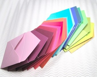 36 teeny tiny envelope note card sets handmade in jewel tones 3.25 inch miniature stationery party favors weddings guest book