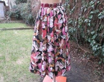 Skort Skirt and Shorts Vintage / Skirt and Shorts / Size EUR42 / 44 / UK14 / 16 / Full / Side Pocket / Viscose