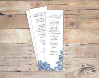 Forget Me Not Bookmark
