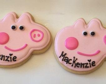 Peppa Pig cookies 2 dozen