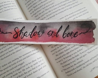 Shadow and Bone Watercolor Bookmark, Grisha, Gift For Booklover, Young Adult Bookmark